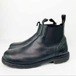 Danner Low Pull On Black Leather Boots US 13